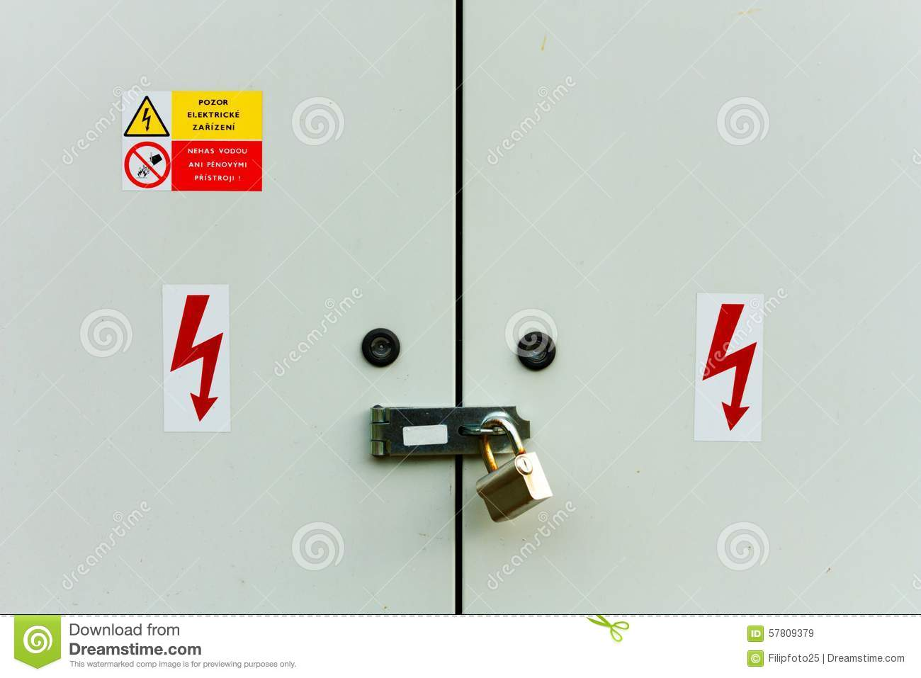 Electrical cabinet stock image Image of full automatic