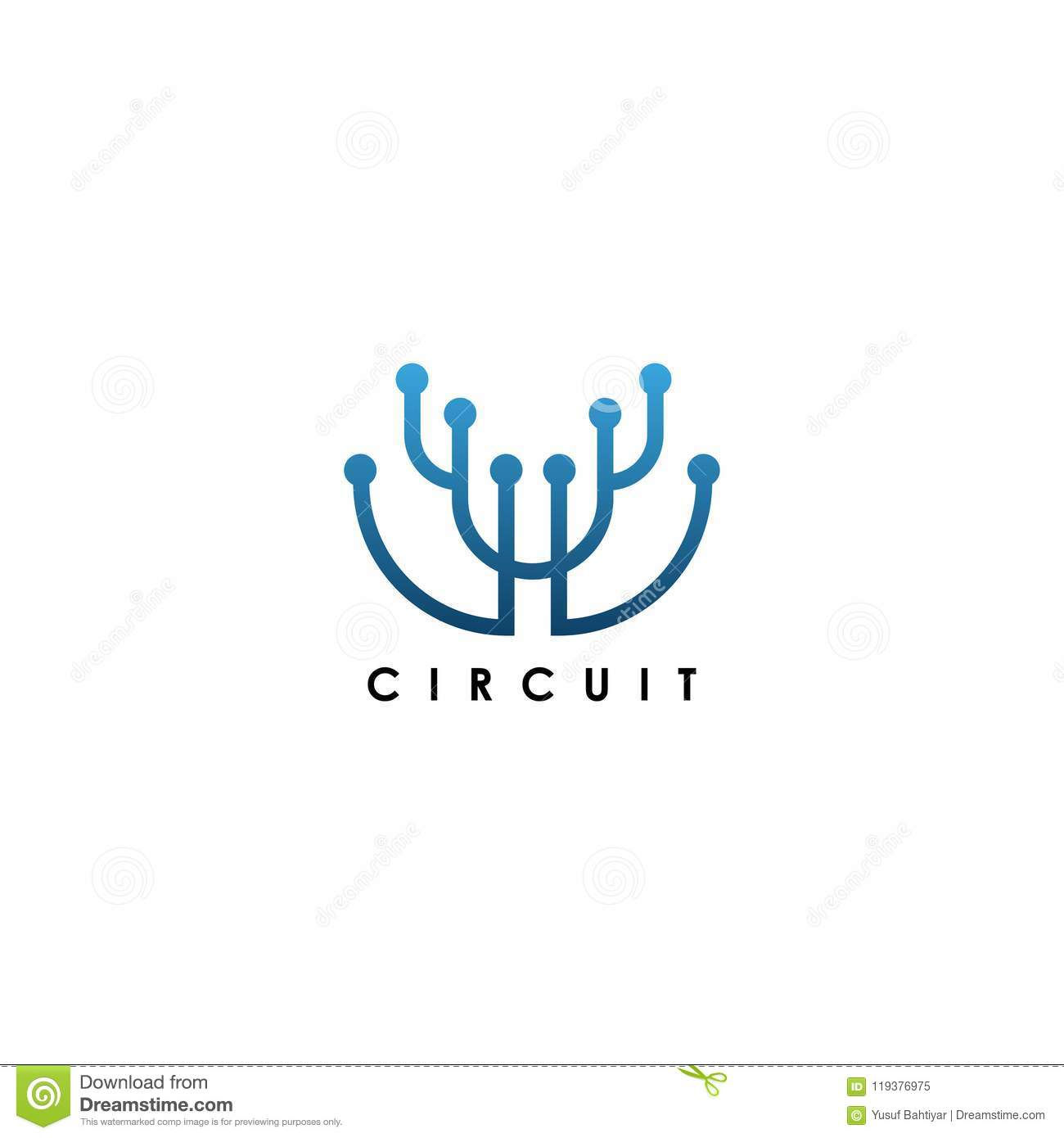 Electrical Circuit Logo Logo Template. Logo Template For