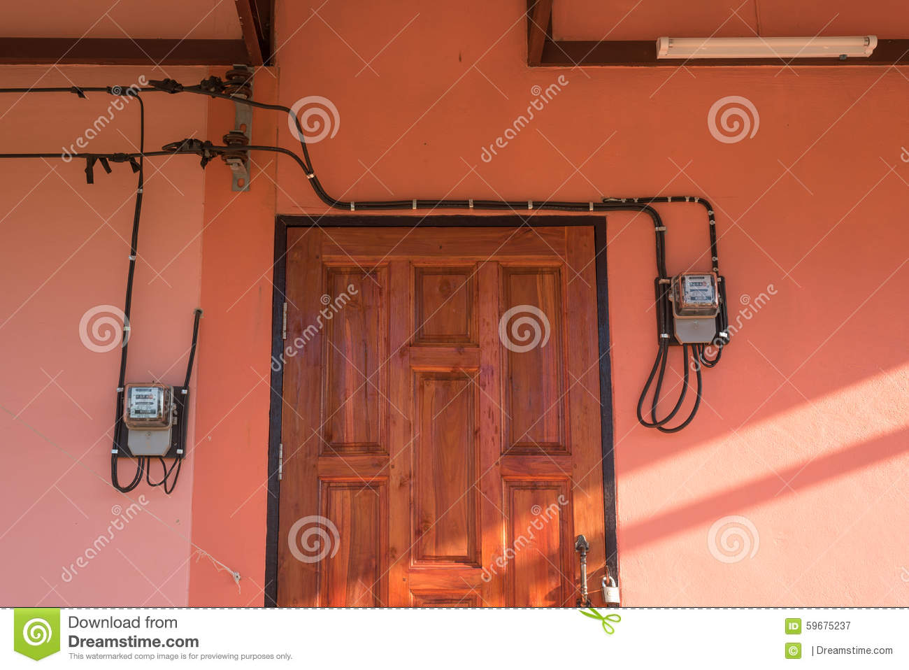 hight resolution of electrical circuit wiring inside house with watt hour meters in pink