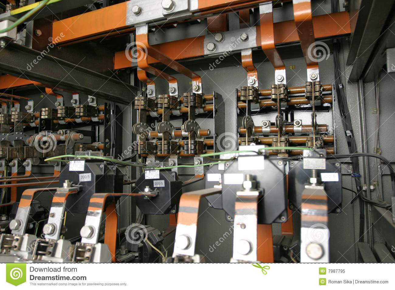 Electrical Control System In Factory Stock Image  Image 7987795