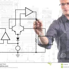 Free Circuit Diagram Drawing Software Wiring For Nest Thermostat Uk Electrical Engineer Royalty Stock Photo - Image: 27585545