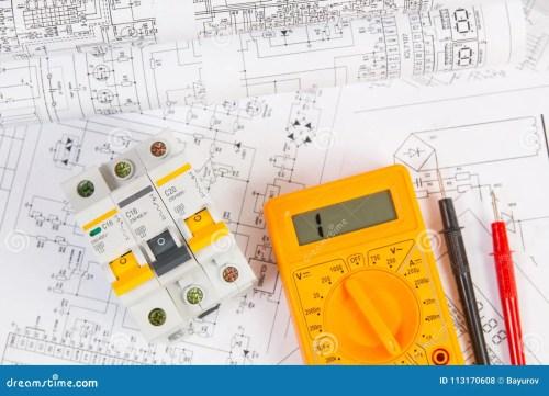 small resolution of electrical engineering drawings modular circuit breaker and digital multimeter