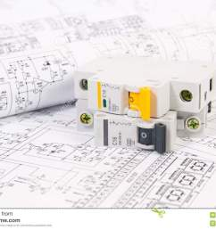 electrical engineering drawings and modular circuit breaker  [ 1300 x 957 Pixel ]