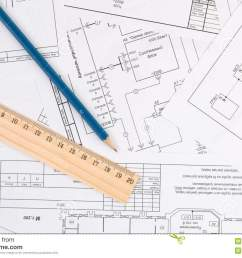 electrical engineering drawings pencil and ruler [ 1300 x 957 Pixel ]