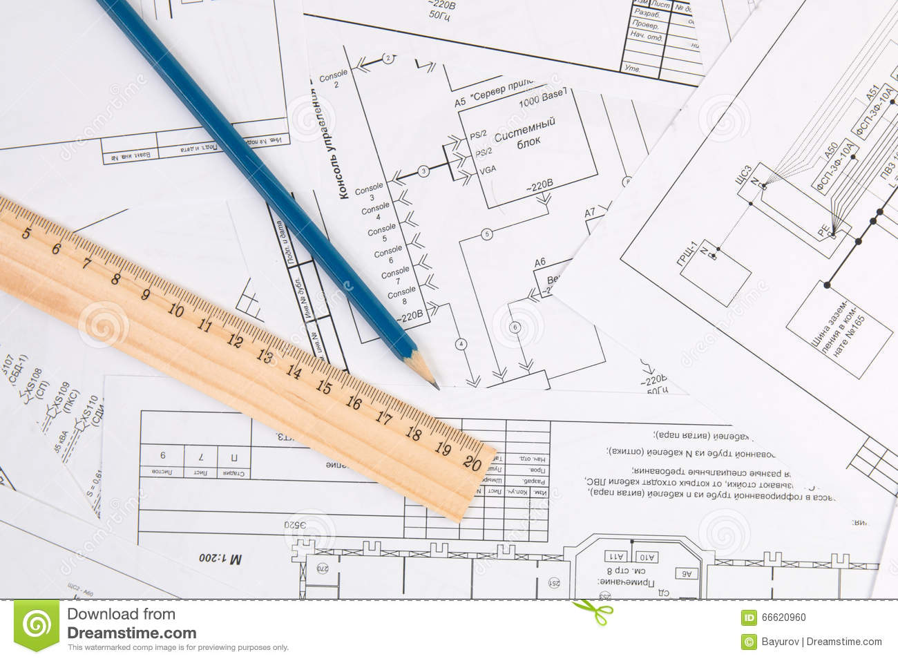 hight resolution of electrical engineering drawings pencil and ruler