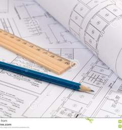 electrical engineering drawings printing pencil and ruler [ 1300 x 957 Pixel ]