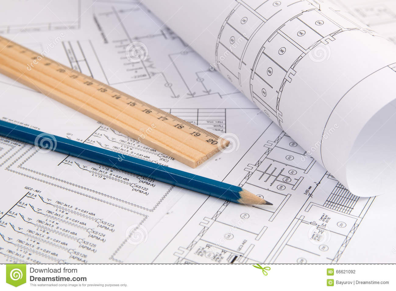 hight resolution of electrical engineering drawings printing pencil and ruler