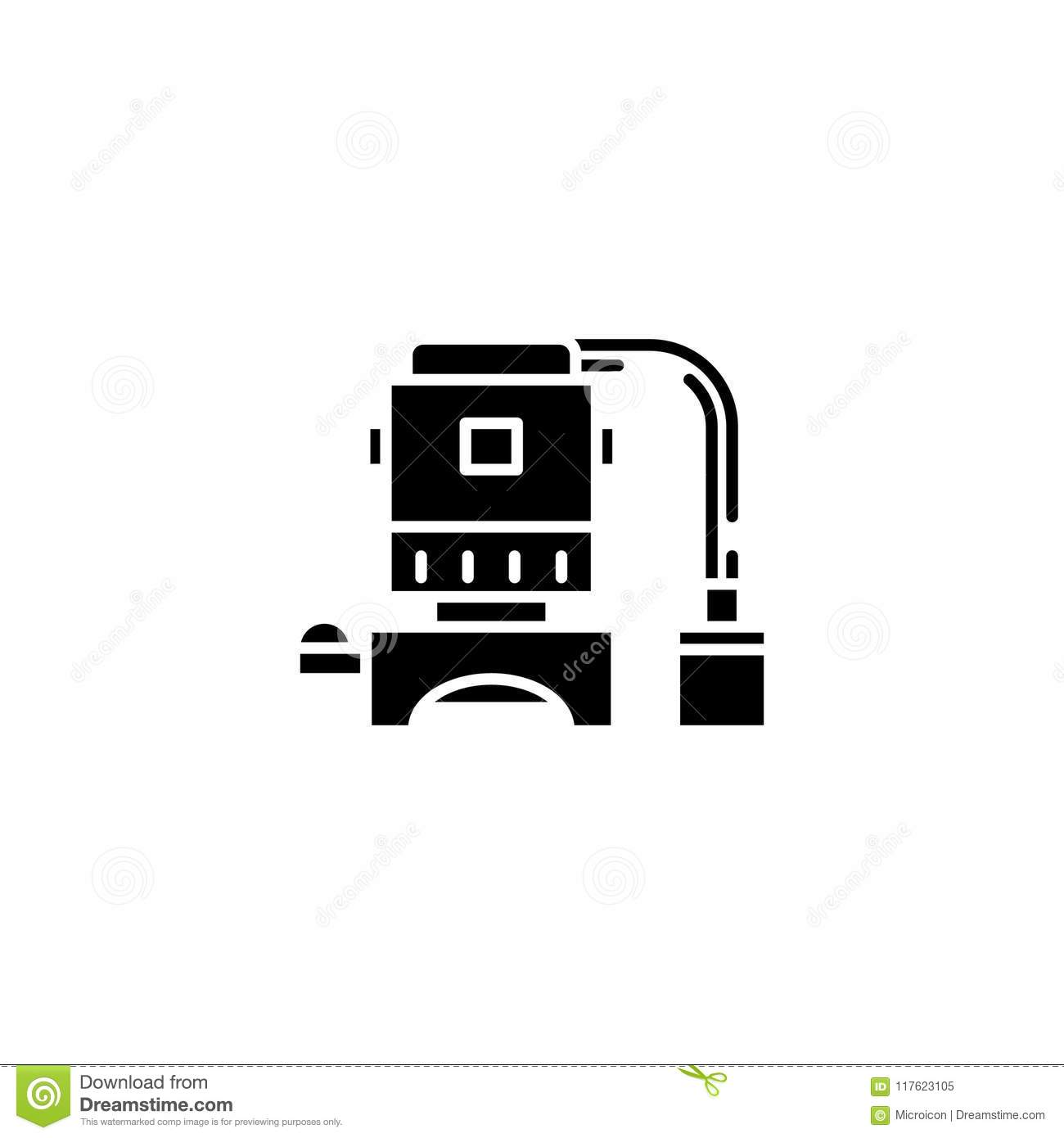 Electrical Equipment Black Icon Concept Electrical