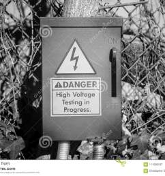 an electrical fuse box with a danger warning stock image image of cover fuse box decoration [ 1300 x 957 Pixel ]
