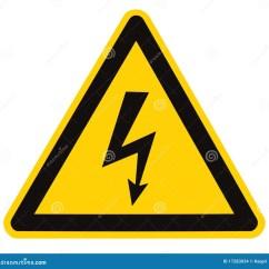 Electrical Panel Hazards 1996 Chevy Silverado Radio Wiring Diagram Hazard High Voltage Sign Isolated Macro Stock