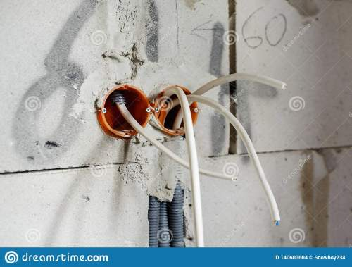 small resolution of electric box with wires house in construction
