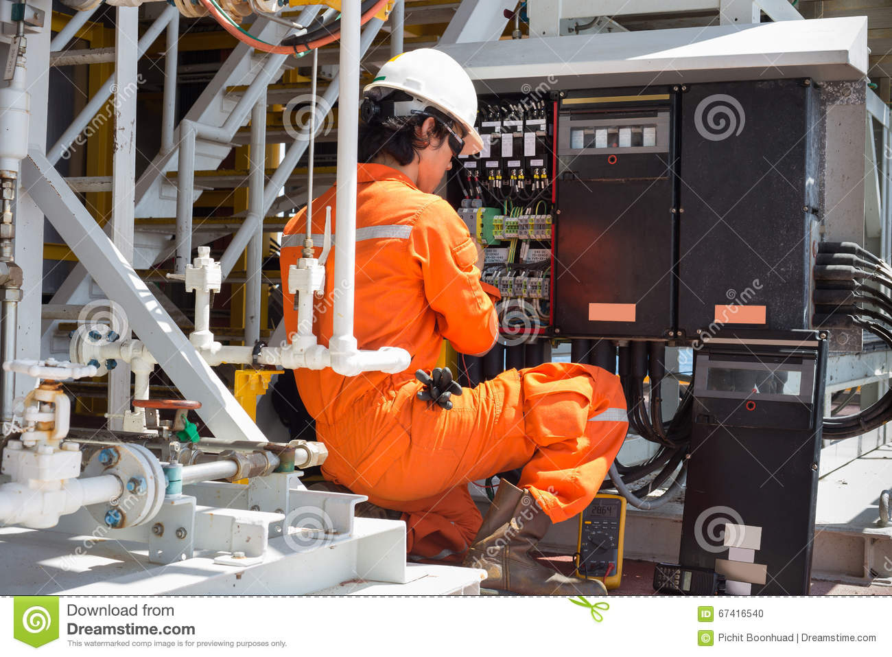 Electrical And Instrument Technician Maintenance Electrical System Stock Photo  Image of