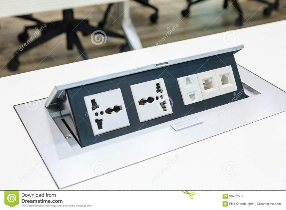 medium resolution of electrical outlet with dual 3 pin phone jack plugs and network plugs