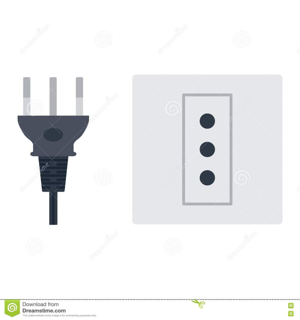 medium resolution of electric outlet illustration on white background energy socket electrical outlet plug appliance interior icon wire cable cord connection electrical outlet