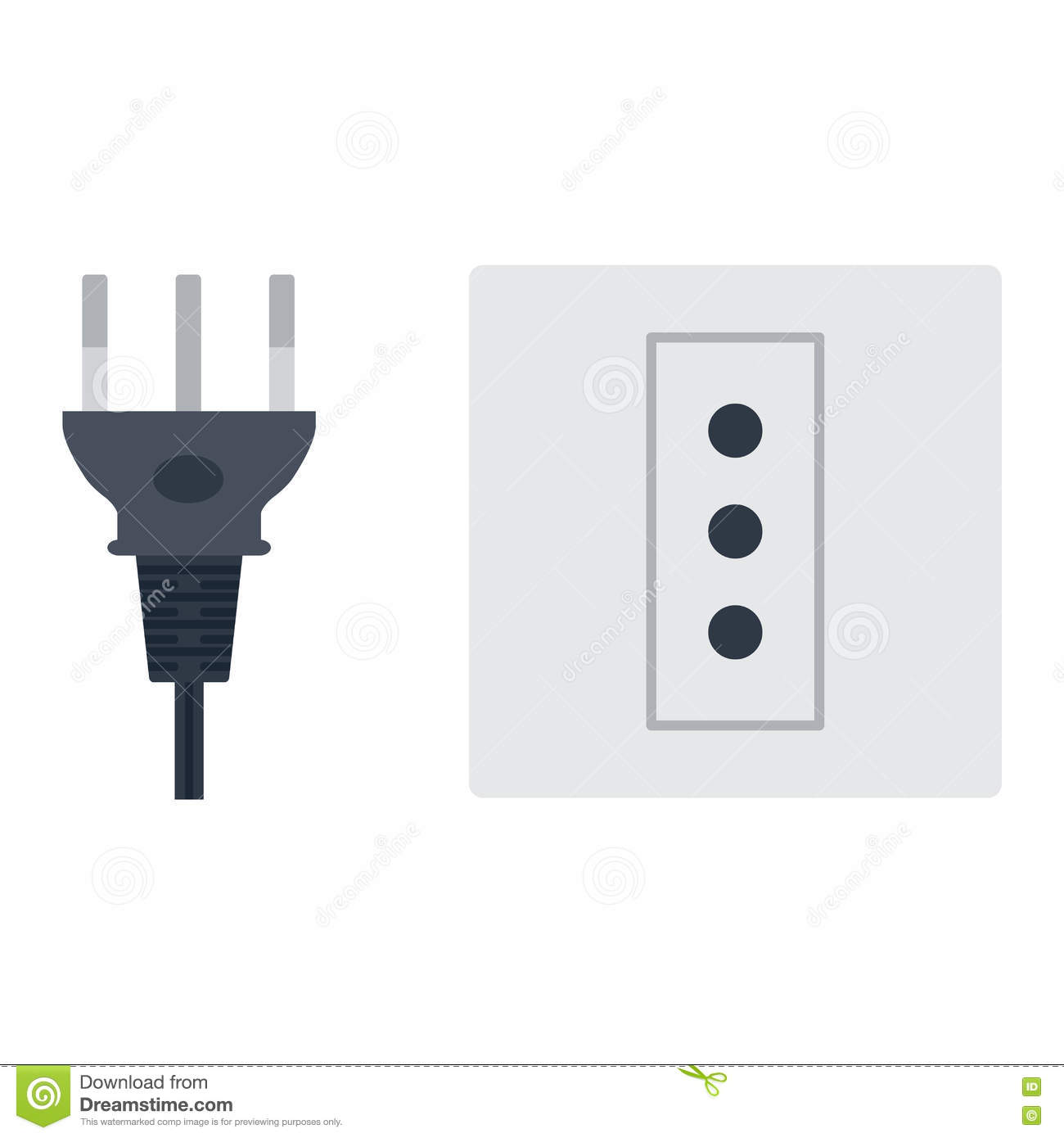 hight resolution of electric outlet illustration on white background energy socket electrical outlet plug appliance interior icon wire cable cord connection electrical outlet