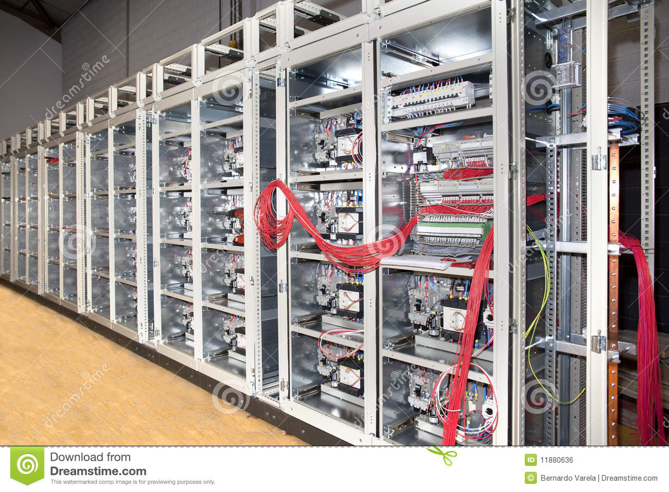 Electrical Panel Board Construction Royalty Free Stock