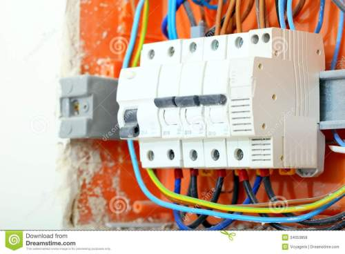 small resolution of electrical panel box with fuses and contactors