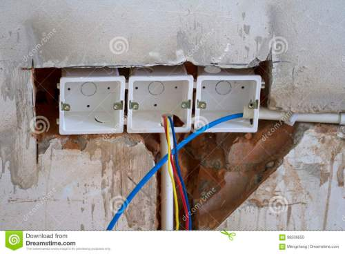 small resolution of electrical renovation work cable electric electrical box with wiring during residential renovation