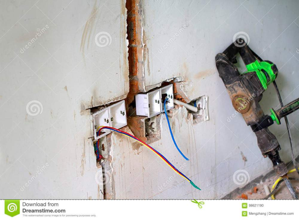 medium resolution of electrical renovation work cable electric electrical box with wiring during residential renovation