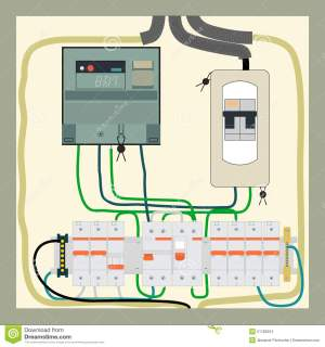 Electrical Shield Stock Vector  Image: 51180224