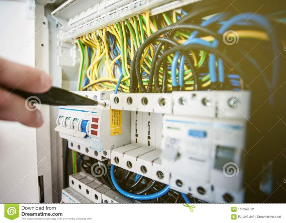 medium resolution of electrical terminal in junction box and service by technician electrical device install in control panel for support program and control function by plc