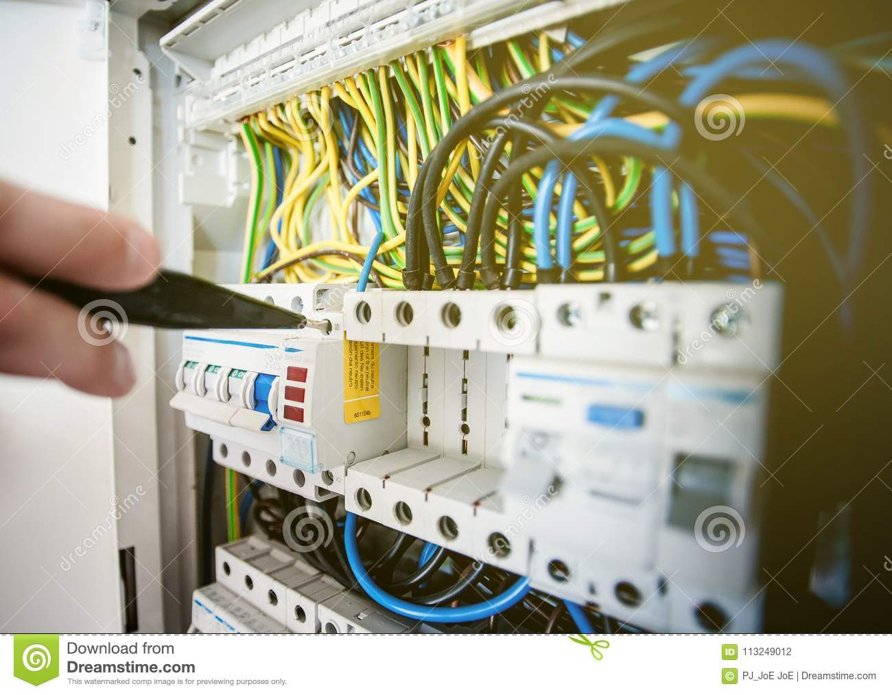 hight resolution of electrical terminal in junction box and service by technician electrical device install in control panel for support program and control function by plc