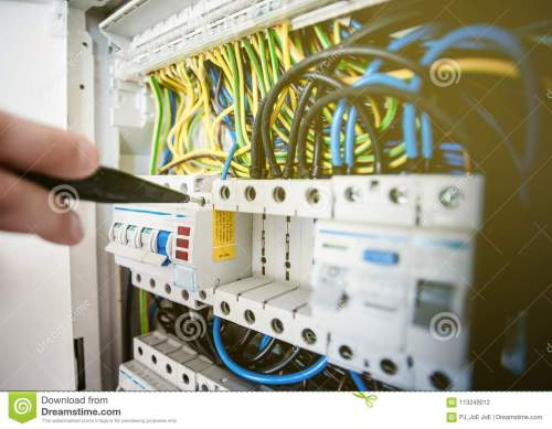 small resolution of electrical terminal in junction box and service by technician electrical device install in control panel for support program and control function by plc