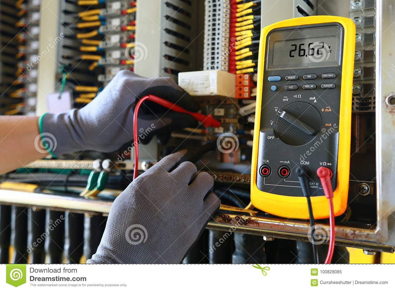 hight resolution of electrical terminal in junction box and service by technician electrical device install in control panel