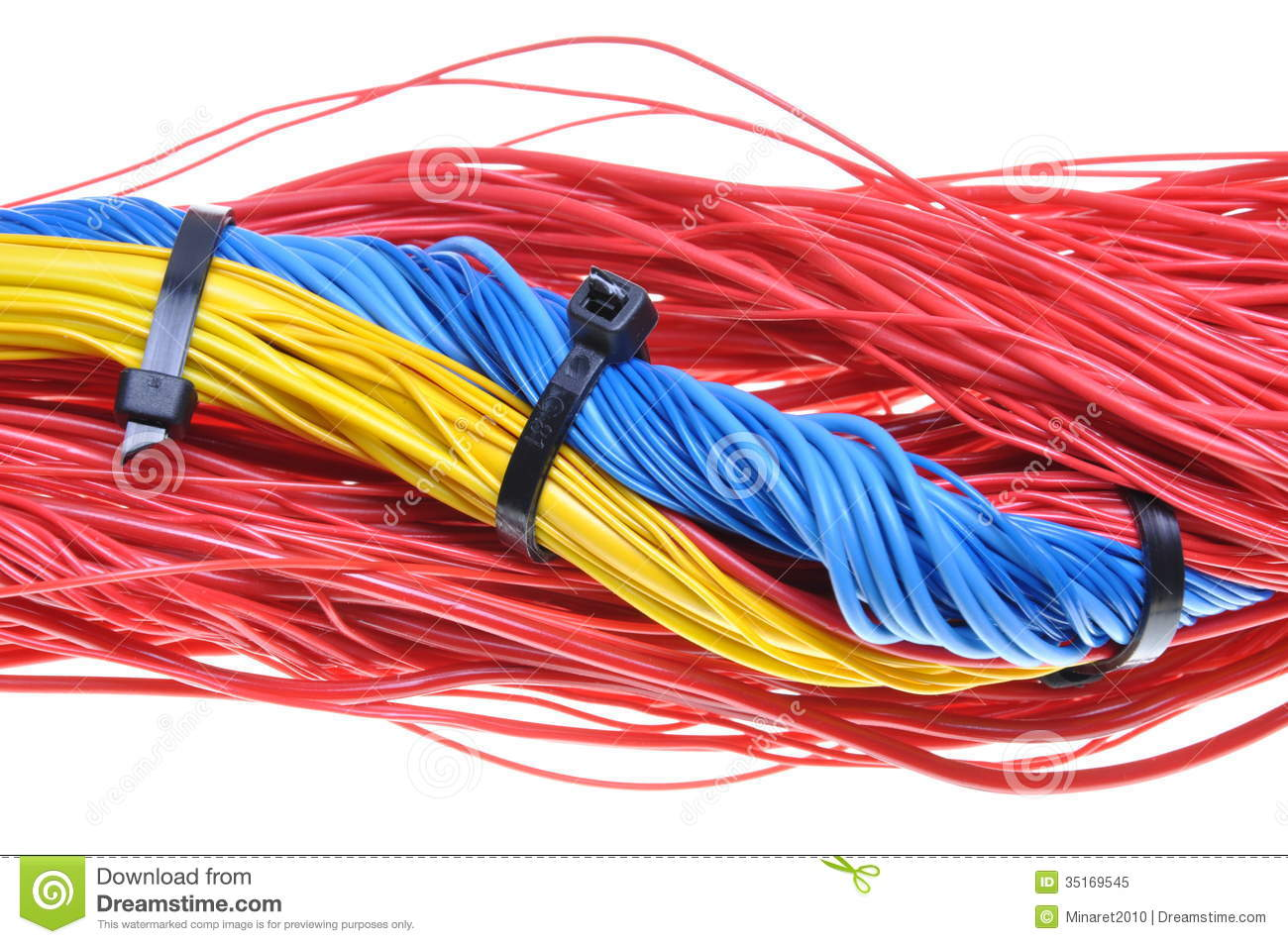 hight resolution of electrical wires with cable ties