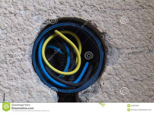 small resolution of three electrical wires inside a new wall socket part of a new electrical circuit in a home