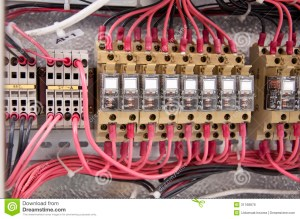 Electrical Wiring Control Panel Diagram Royalty Free Stock