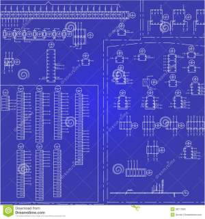 Electrical Wiring Diagram Background Royalty Free Stock