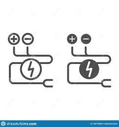 electrical wiring line and glyph icon cable vector illustration isolated on white electrical cord [ 1600 x 1689 Pixel ]