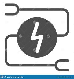 electrical wiring solid icon car adapter vector illustration isolated on white automobile cable glyph [ 1600 x 1689 Pixel ]