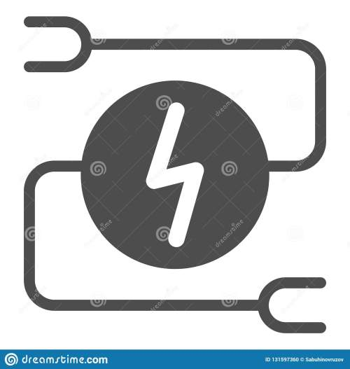 small resolution of electrical wiring solid icon car adapter vector illustration isolated on white automobile cable glyph