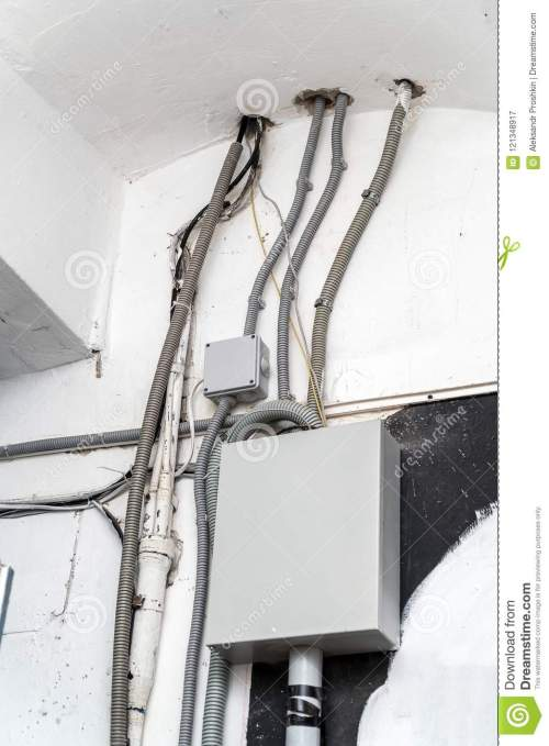 small resolution of electrical wiring telephone wires various cables and a communication box