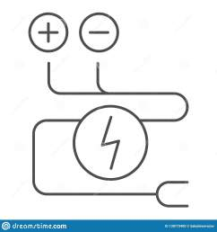 electrical wiring thin line icon cable vector illustration isolated on white electrical cord outline [ 1600 x 1689 Pixel ]
