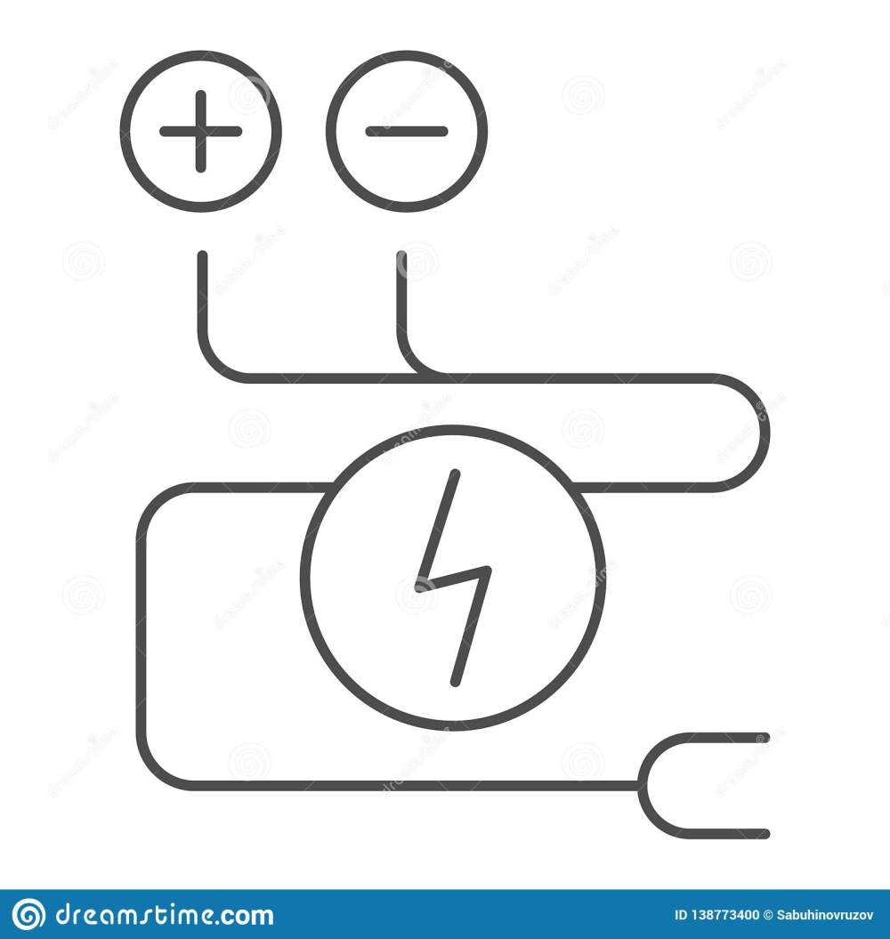 medium resolution of electrical wiring thin line icon cable vector illustration isolated on white electrical cord outline