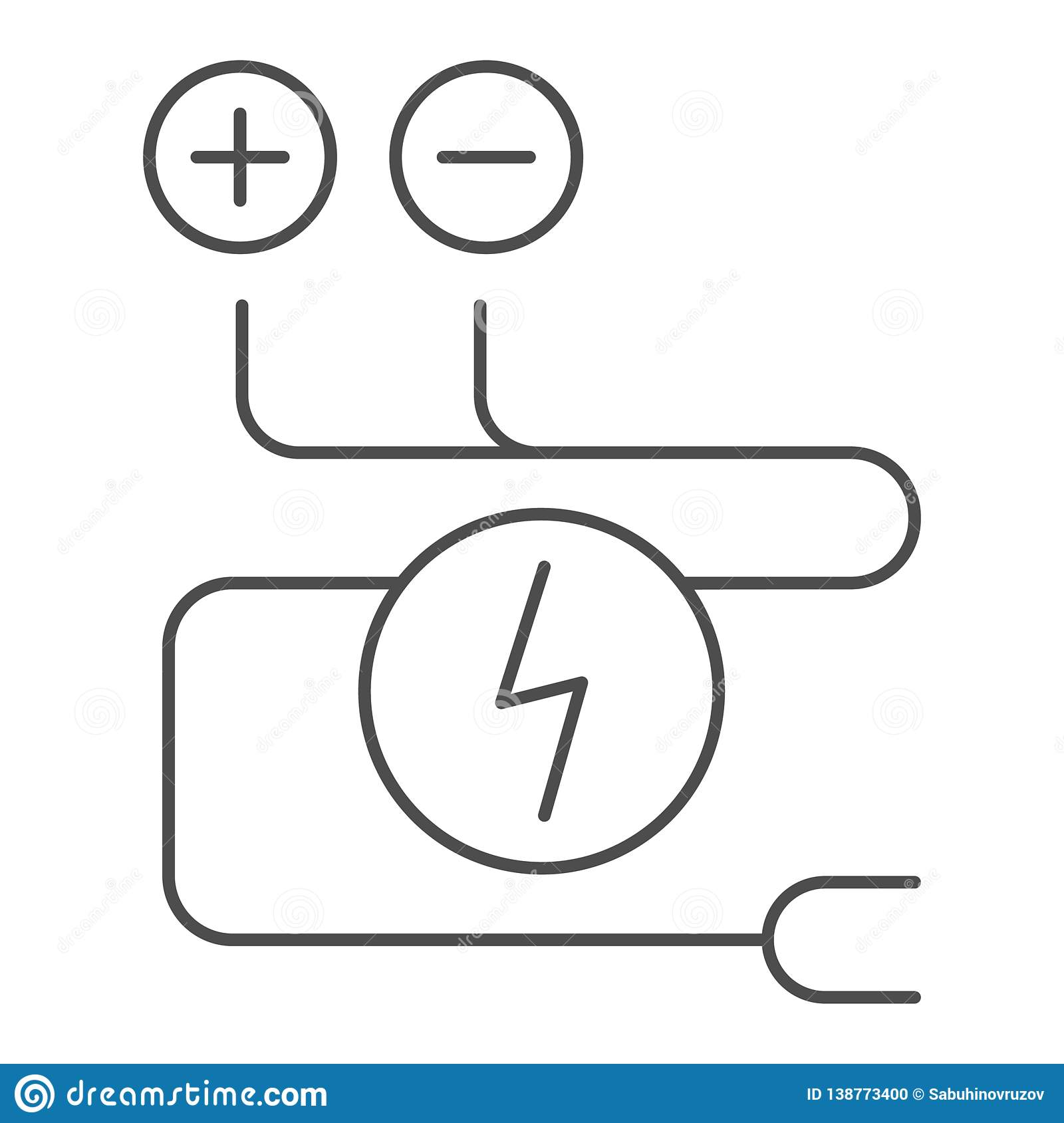 hight resolution of electrical wiring thin line icon cable vector illustration isolated on white electrical cord outline