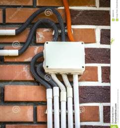 electrical wiring on the wall stock photo image of background surface mount electrical wiring to download surface mount electrical [ 1112 x 1300 Pixel ]