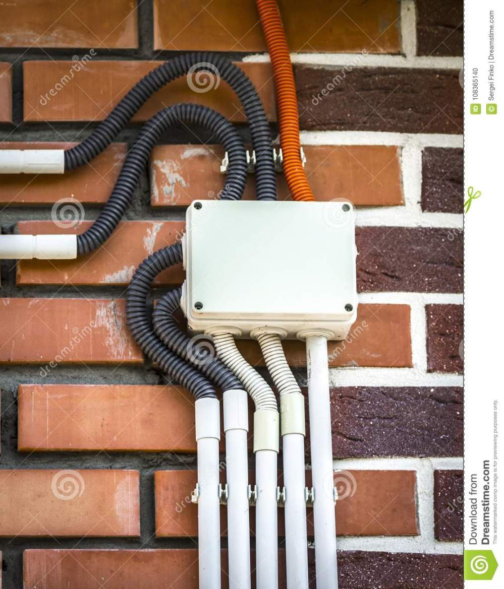 medium resolution of electrical wiring on the wall stock photo image of background surface mount electrical wiring to download surface mount electrical