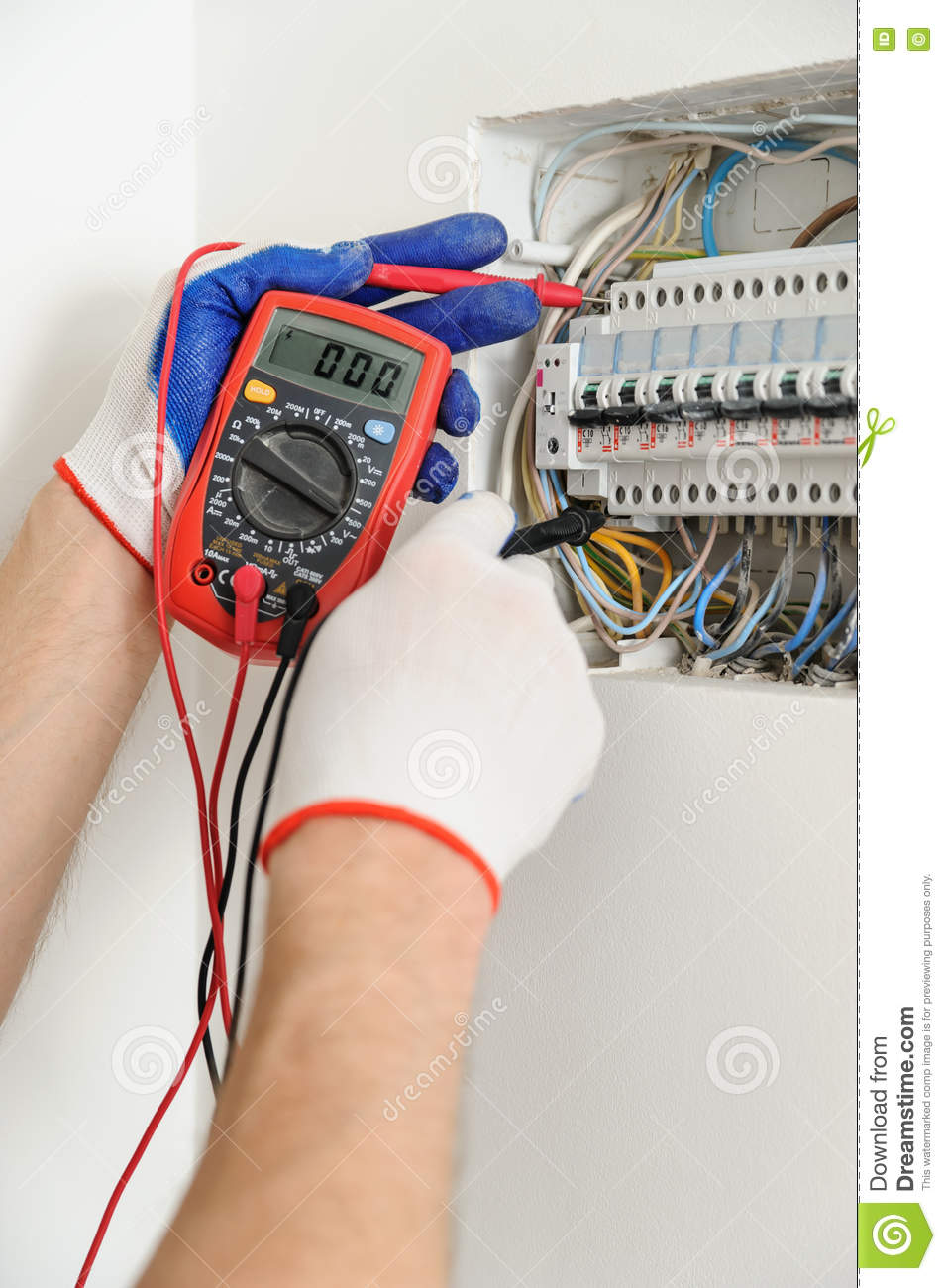 medium resolution of electrician check voltage in electrical fuse box