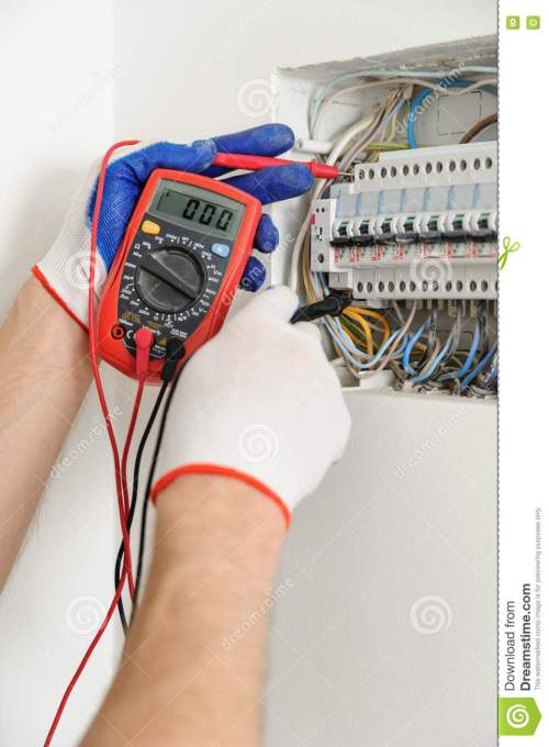 small resolution of electrician check voltage in electrical fuse box