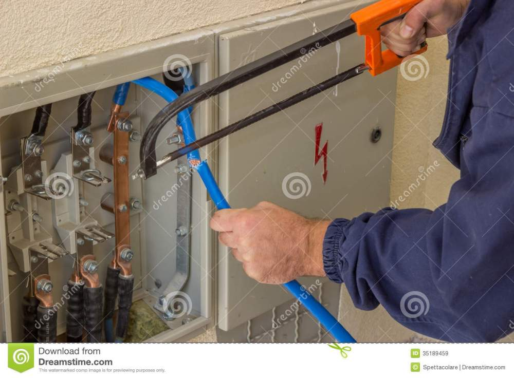medium resolution of three phase fuse box wiring library low voltage fuse box electrician working with a chainsaw in