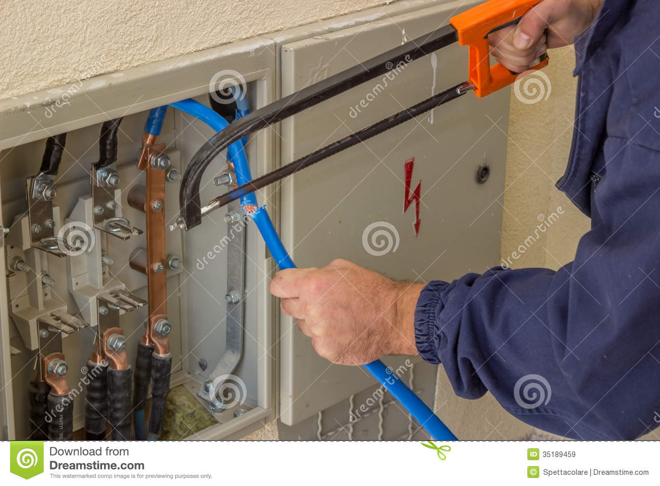 hight resolution of three phase fuse box wiring library low voltage fuse box electrician working with a chainsaw in