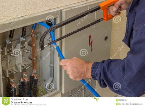 small resolution of three phase fuse box wiring library low voltage fuse box electrician working with a chainsaw in