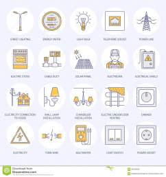 electrical equipment power socket torn wire energy meter lamp wiring design multimeter electrician services signs house repair illustration  [ 1300 x 1390 Pixel ]