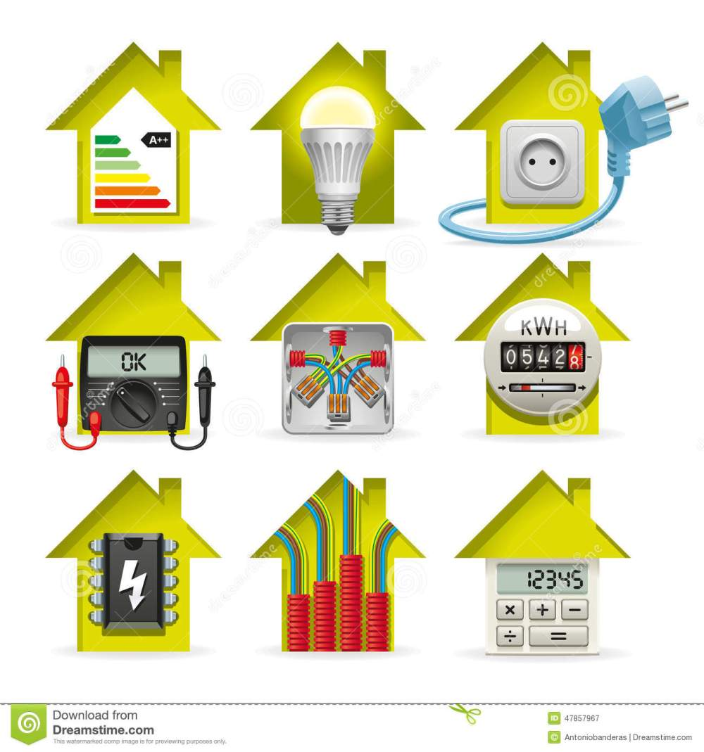 medium resolution of house wiring logo wiring diagram electricity home icons stock vector illustration of tester 47857967icons installation of