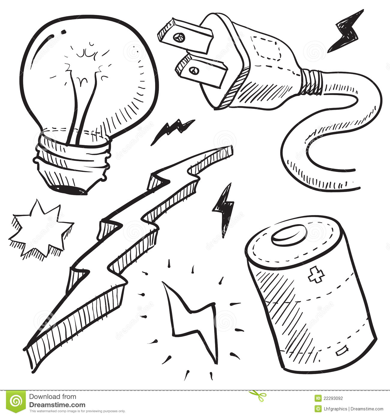 Electricity And Power Illustration Stock Photography
