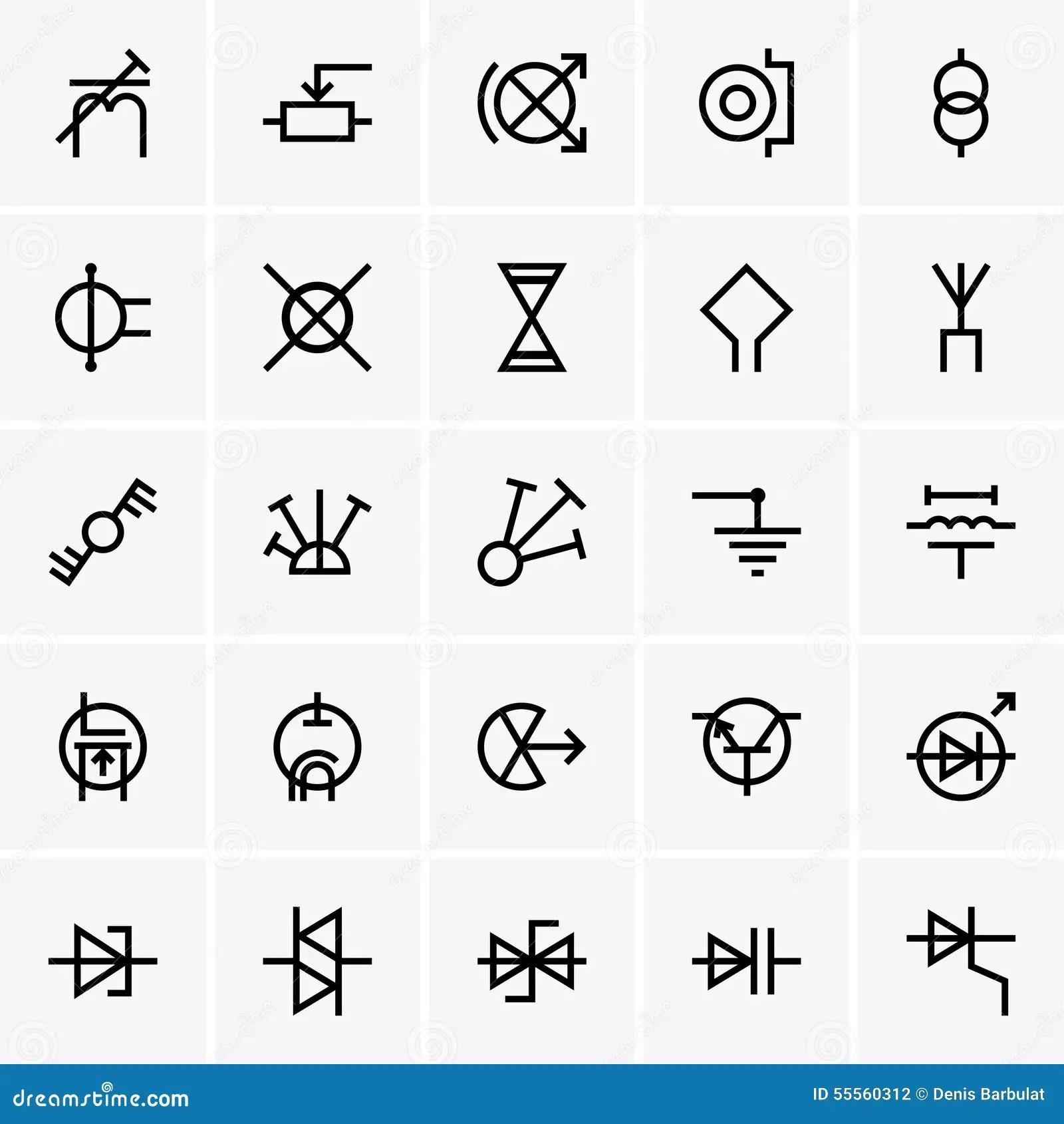 Electricity Symbols Stock Vector Illustration Of Symbol